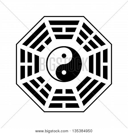 Vector Yin and yang symbol. Modern yin-yang symbol isolated on white background. King Wen