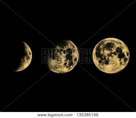 Moon Phases Sepia