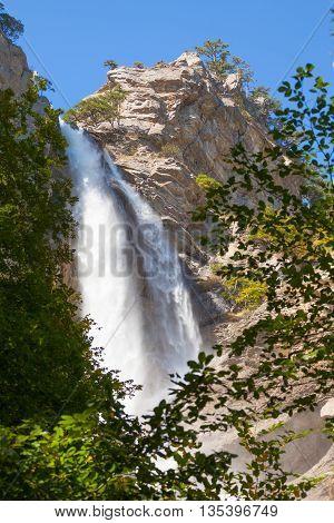Uchan-su falls on the mountain Ah-Petri in the Crimea