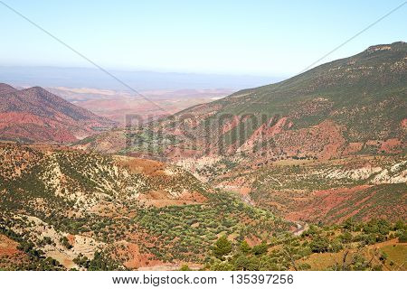 The    Dades Valley   Red Africa Ground  Nobody