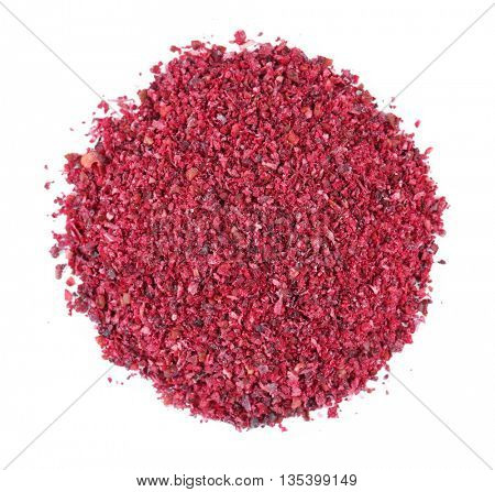 Dried sumac isolated on white