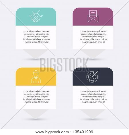 Infographic Templates for Business. Infographics statistic vector. Infographic for presentation. Can be used for info graphics graphic or website layout vector numbered banners diagram.