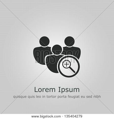 User Zoom In Icon In Vector Format. Premium Quality User Zoom In Symbol. Web Graphic User Zoom In Si
