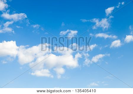 Blue Sky And White Altocumulus Clouds
