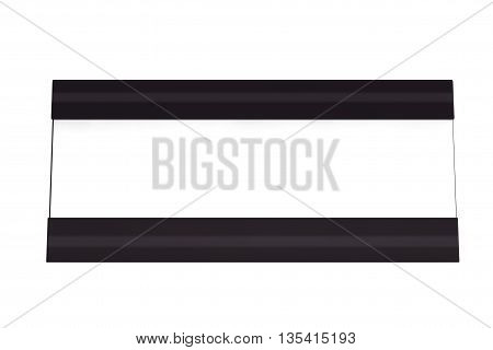Horizontal Blank Table Card Tag on a white background. 3d Rendering