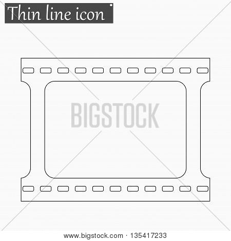film strip with space for your text or image icon Vector Style Black thin line