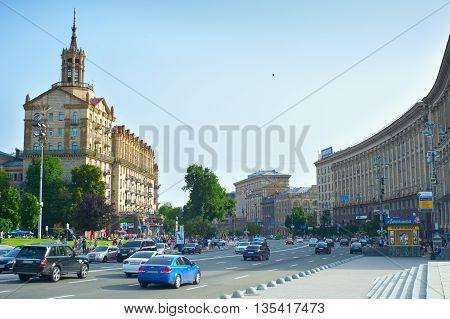 Kiev Downtown Traffic, Ukraine