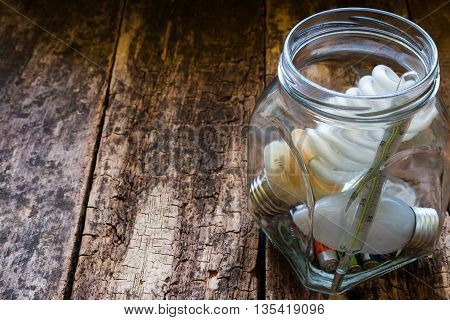 Jar Of Hazardous Waste And Place For Text On Wooden Background
