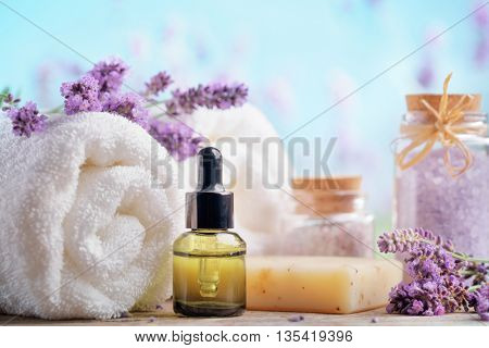 Essential oil, seasalt,towels and handmade soap