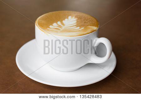 Cup Of Art Latte.