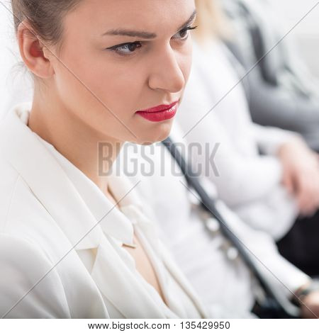 Businesswoman With Red Lips