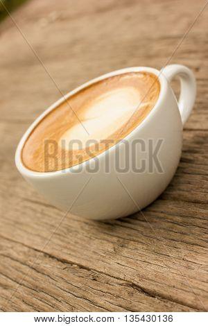 Art Latte Or Cappuccino Coffee.