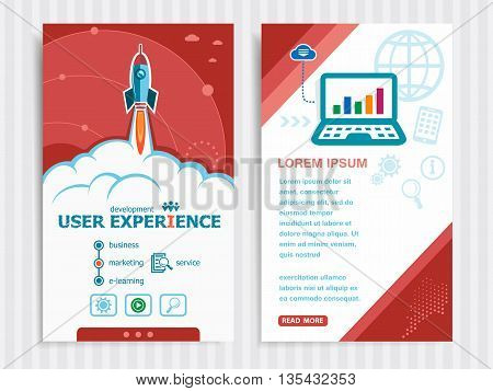 Project User Experience Template And Set Of Banners.