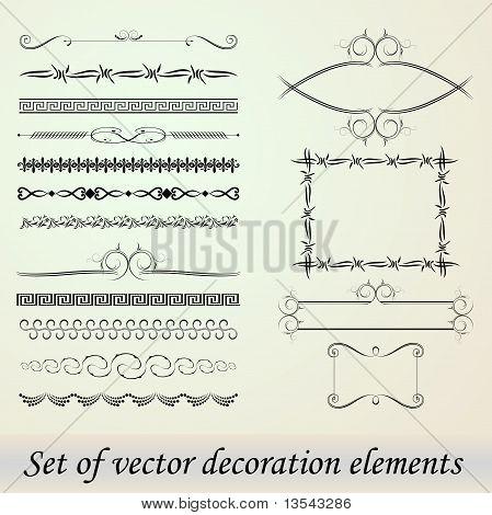 Set Of Decoration Elements