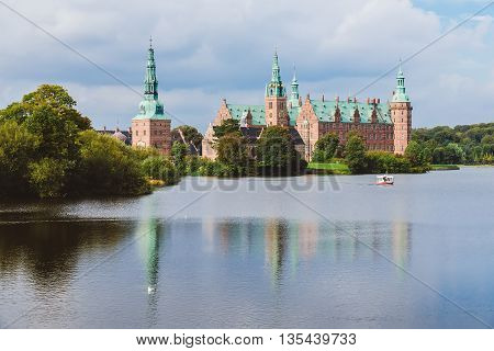 Frederiksborg Castle Reflected In The Lake In Hillerod.
