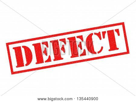 DEFECT red Rubber Stamp over a white background.