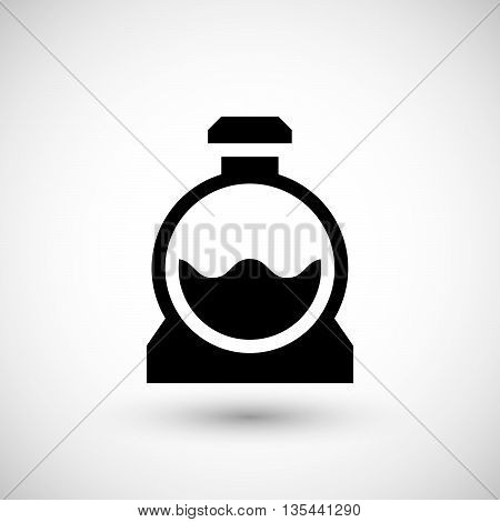 Sewage tank icon isolated on grey. Vector illustration