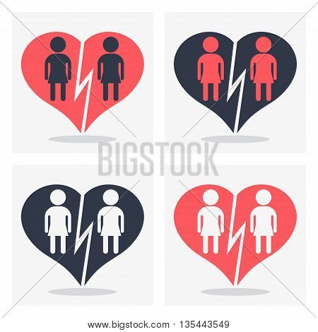 Gay Girl Couple With Broken Heart
