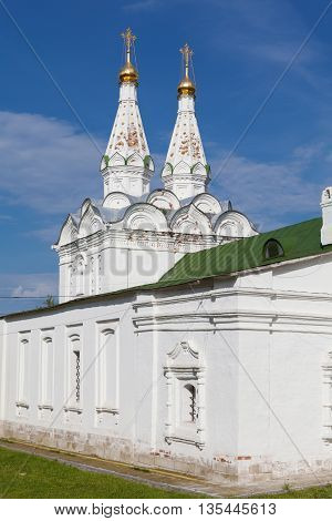 White orthodox church in Ryazan Kremlin, Russia