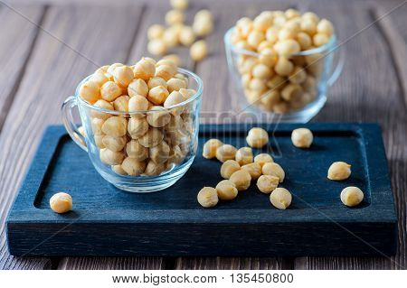 Puff croutons small pastry balls soup additive