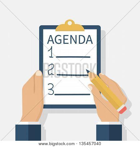 Agenda List. Vector