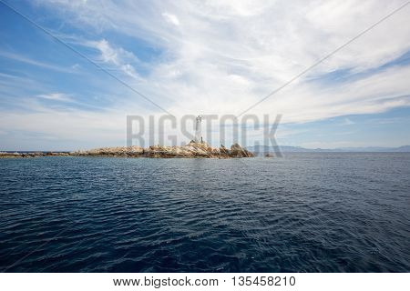 Lighthouse in Northern Sardinia (Maddalena and Caprera Range Front)