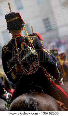Kings Troop Royal Horse Artillery London England