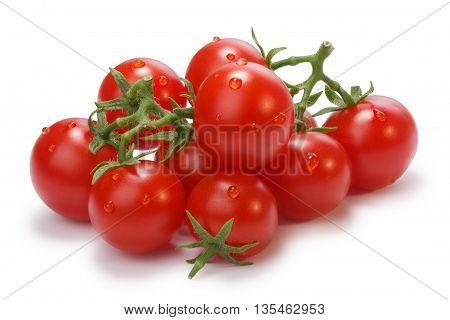 Ripe Heirloom Cherry Tomatoes On Vine