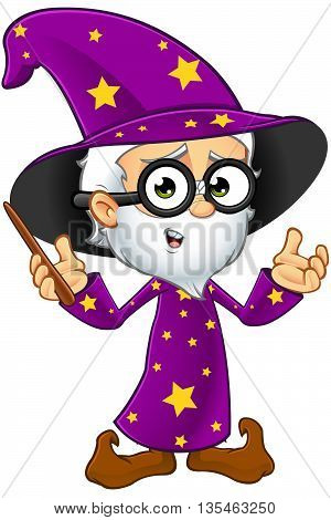 Old Wizard In Purple - Original