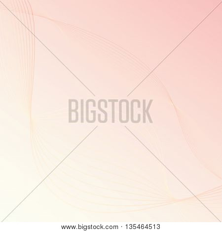 Abstract colorful background with red wave - vector