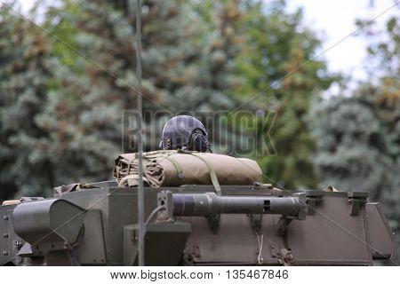 Soldier In Helmet