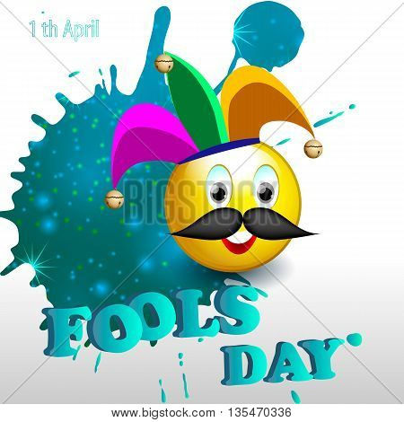 Illustration of April fool's day. holiday. vector