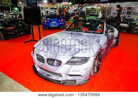 NONTHABURI - JUNE 22 : BMW car on display at Bangkok International Auto Salon 2016 Exciting Modified Car Show on June 22 2016 in Nonthaburi Thailand.