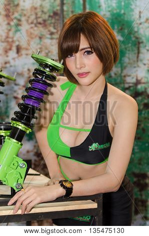 NONTHABURI - JUNE 22 : Unidentified model on display at Bangkok International Auto Salon 2016 on June 22 2016 in Nonthaburi Thailand.