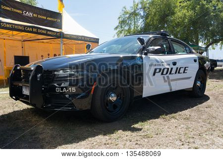 Dodge Charger Police Car During Los Angeles American Heroes Air Show