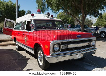 Vintage Ambulance During Los Angeles American Heroes Air Show