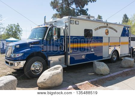 Drug Enforcement Truck During Los Angeles American Heroes Air Show