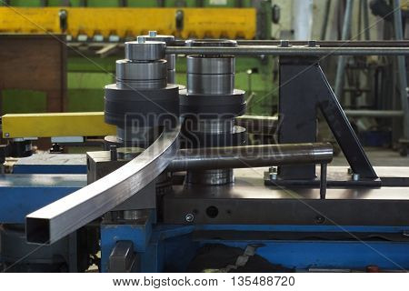working of bending tube machine in the factory