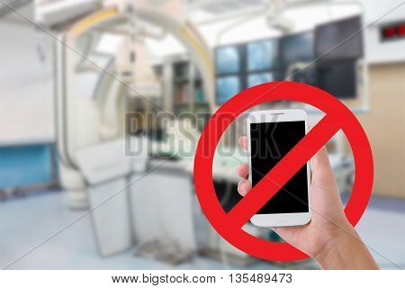 Don't use your mobile phone Recording videos and photos in the hospital.Catheterization laboratory background