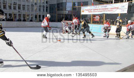 January 31, 2015: Hockey championship The Cup of Mayor Pyatigorsk. Russia Pyatigorsk 31 January 2015