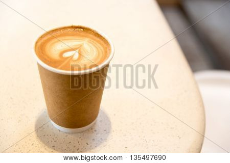 Hot Coffee In Paper Cup