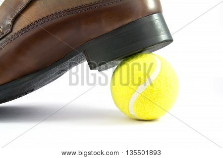 Close up of man shoe on lob