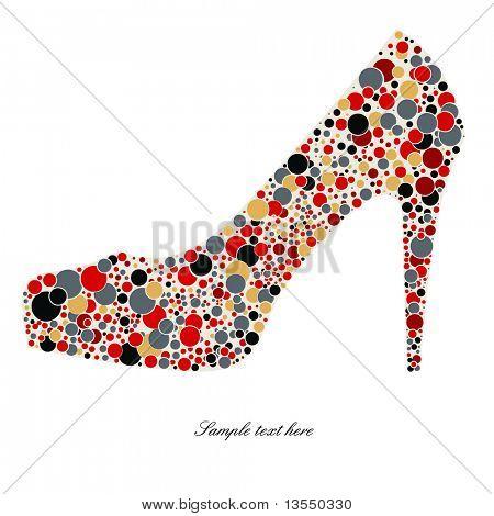 High-heeled shoes