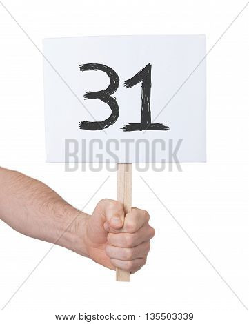 Sign With A Number, 31