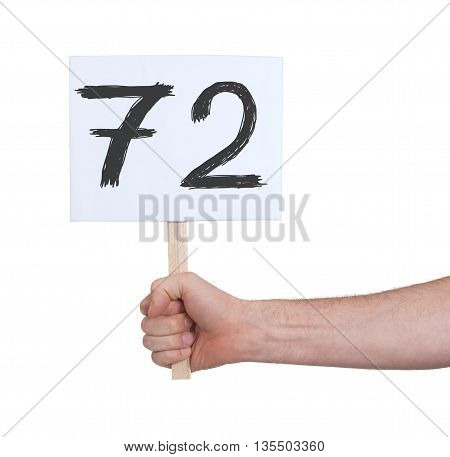Sign With A Number, 72