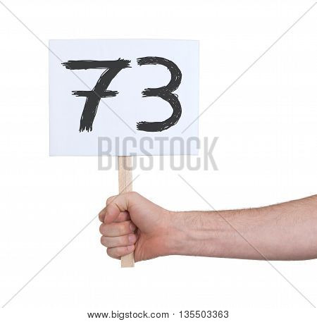 Sign With A Number, 73
