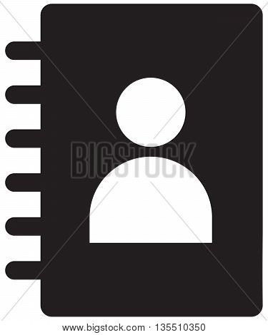contact book telephone directory symbol communication personal