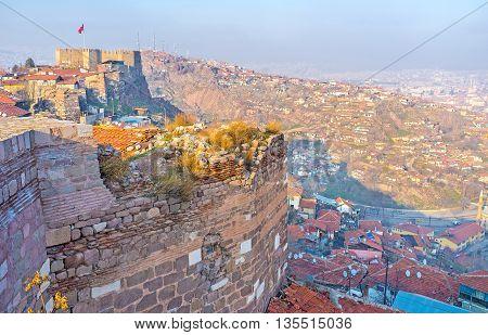The medieval citadel is the symbol of Ankara Ankara Turkey.