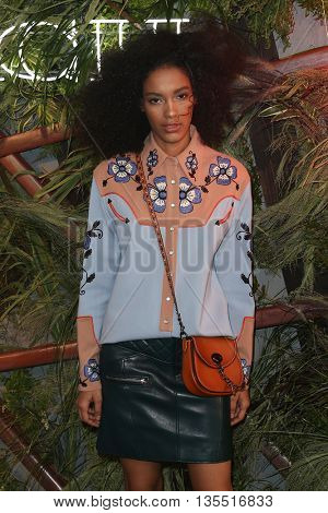 NEW YORK-JUNE 22: Model Luisana Gonzalez attends the 2016 Coach And Friends Of The High Line Summer Party at The High Line on June 22, 2016 in New York City.
