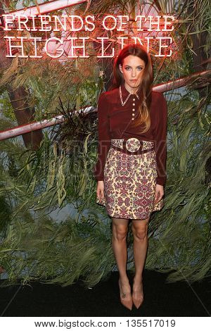 NEW YORK-JUNE 22: Riley Keough attends the 2016 Coach And Friends Of The High Line Summer Party at The High Line on June 22, 2016 in New York City.
